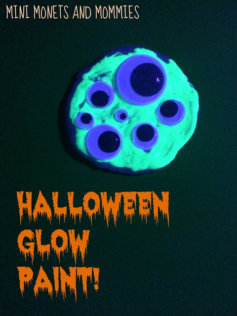 Glow In the Dark Paint Halloween Ghosts