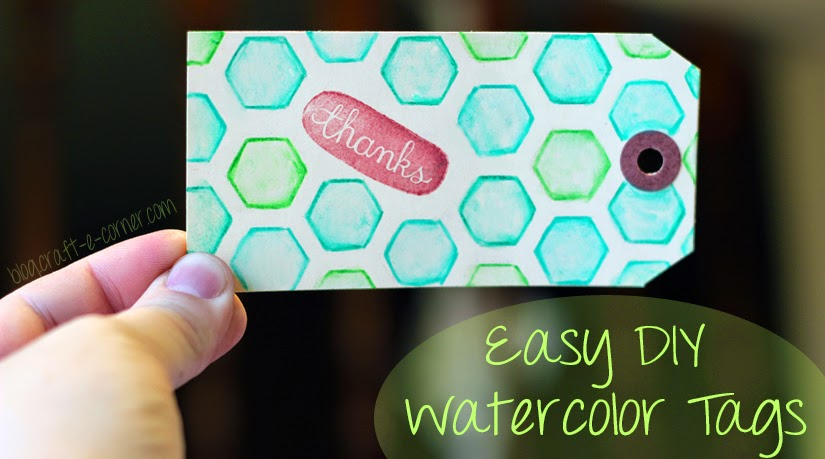 Watercolor thank you tags