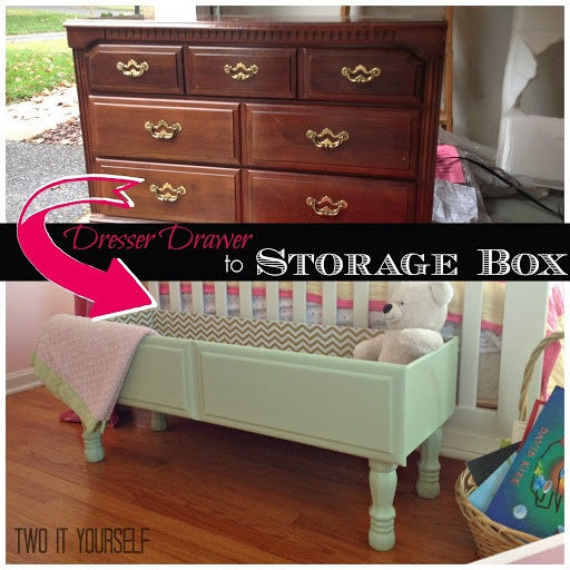Dresser Drawer to Storage Box {Easy DIY Project}