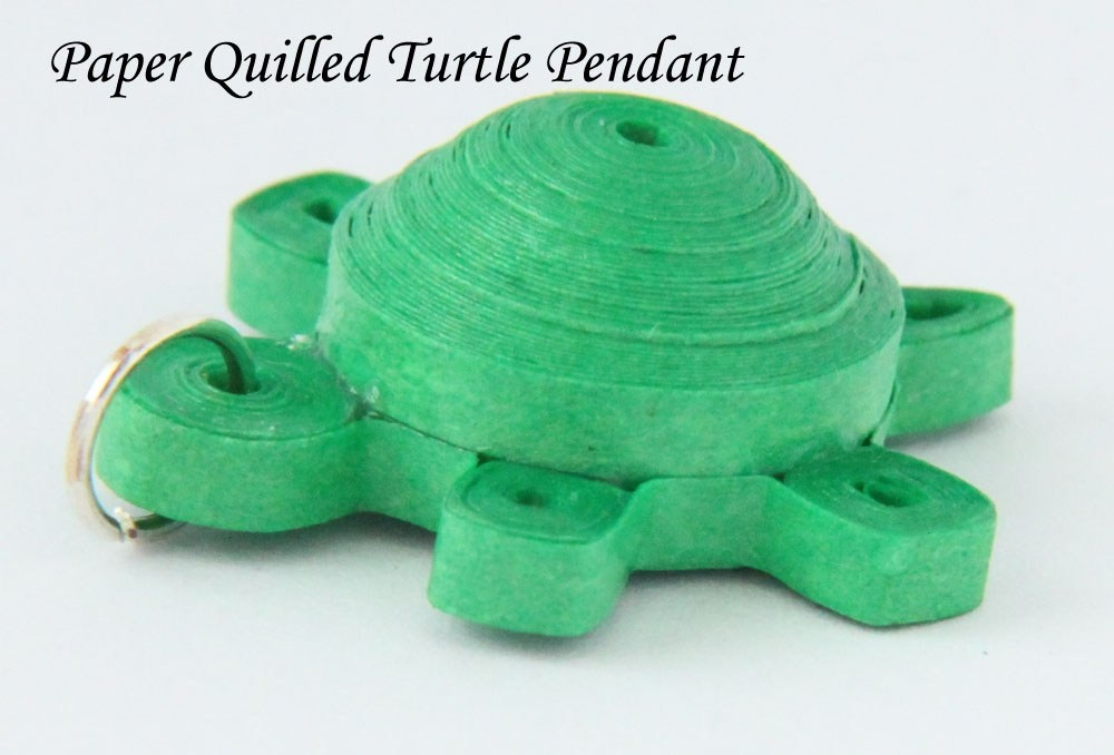 Paper Quilled Turtle Tutorial 3D Quilling Pendant or Magnet