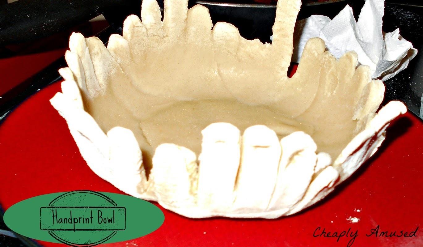 Cheaply Amused Handprint Bowl