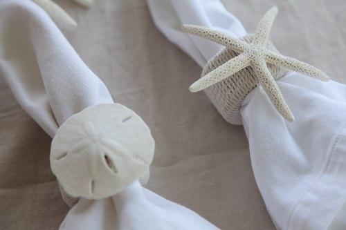 Diy project beachy napkin rings