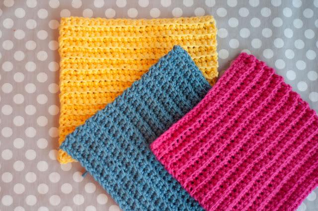 Crochet: Ribbed Washcloths (Tutorial)