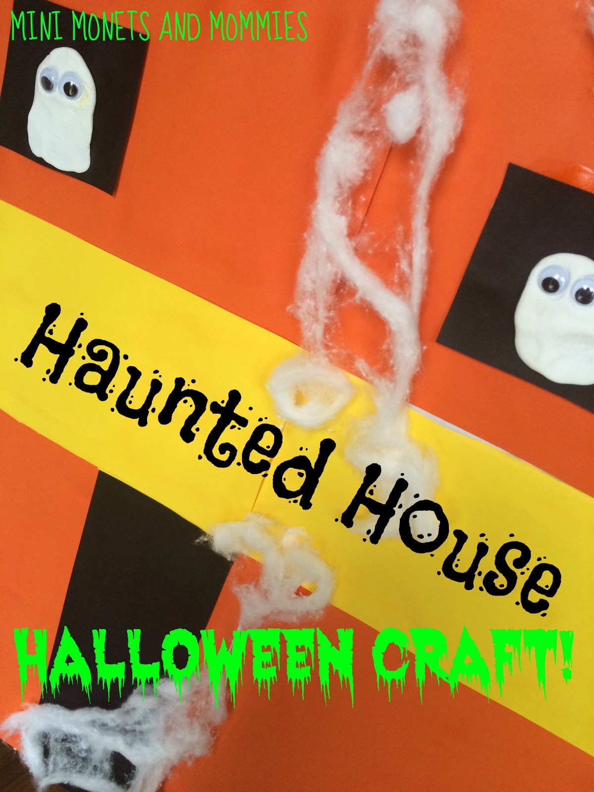 Haunted House Puppet Theater Halloween Craft for Kids