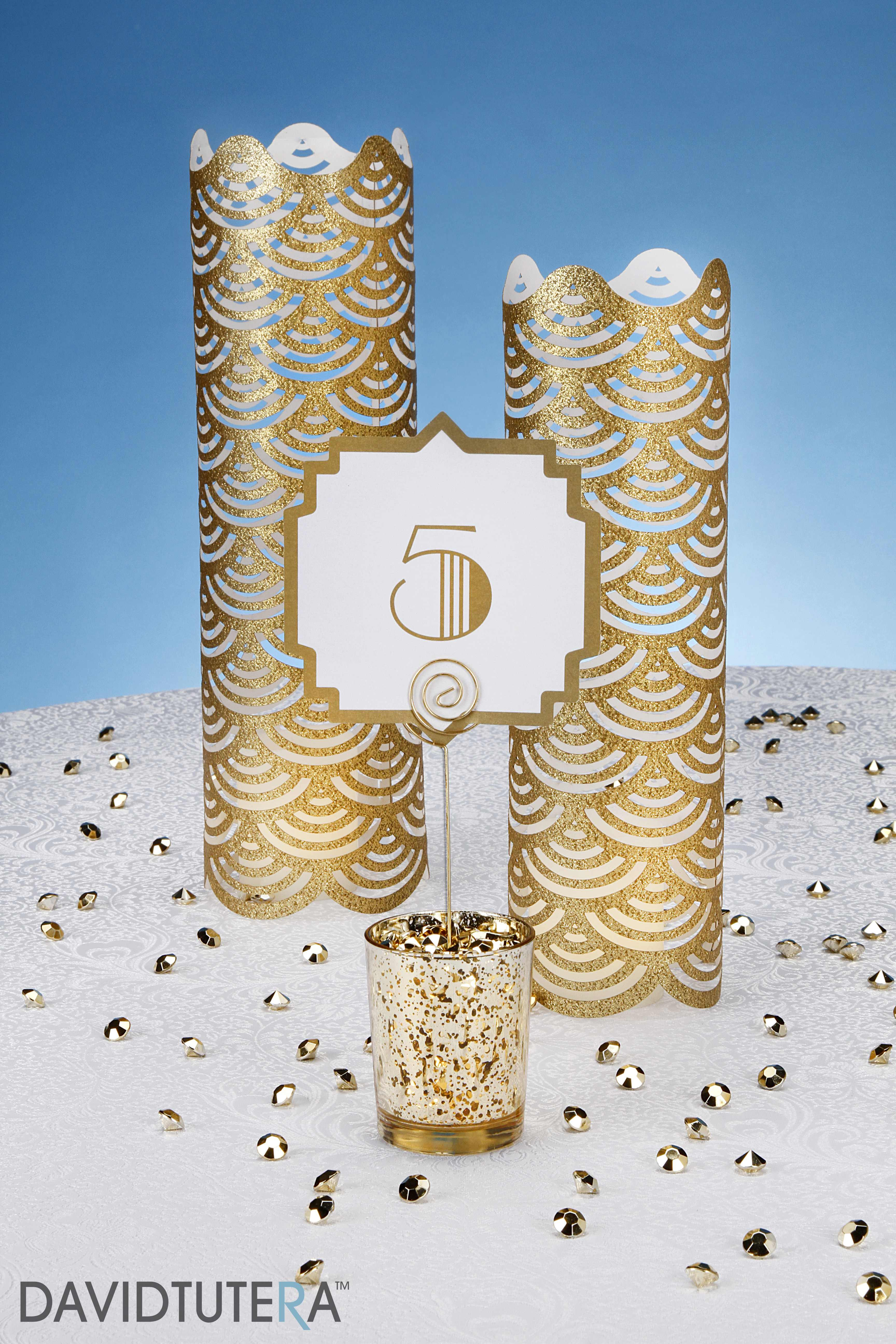 Art Deco Table Number & Decorative Luminary
