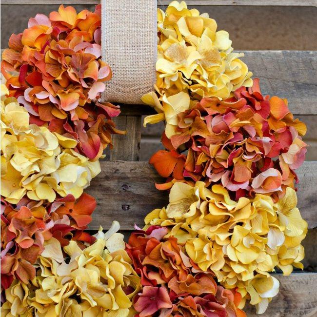 Easy Fall Hydrangea Wreath