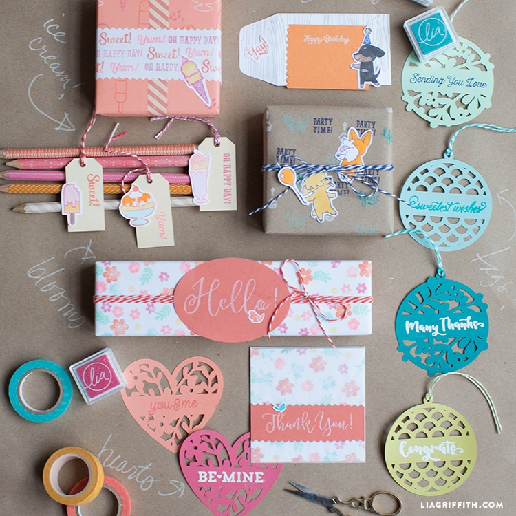 DIY Gift Wrap Customized with Stamps