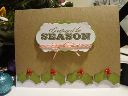 Paper, Scissors, Ink. Holly Edged Christmas Card and svg file