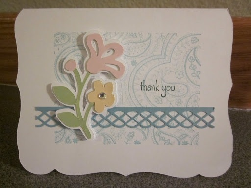 Paper, Scissors, Ink. Cindy Loo thank you card, curly frame svg