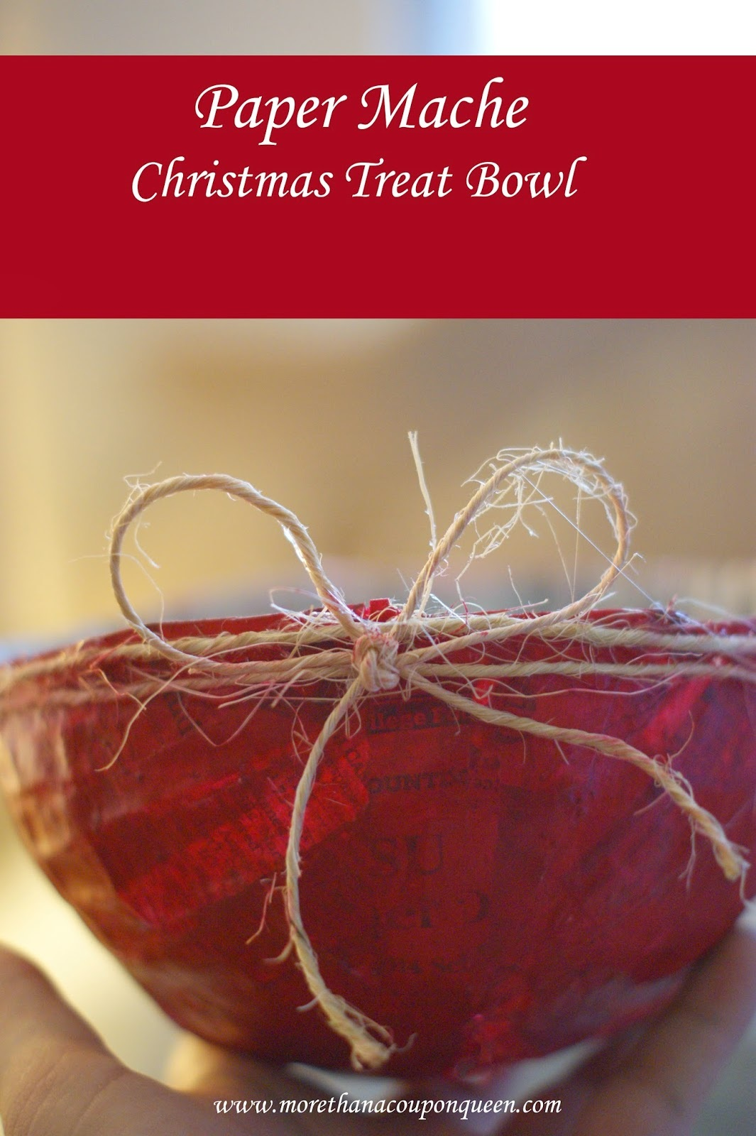 Paper Mache Christmas Treat Bowl Great Gift Idea!