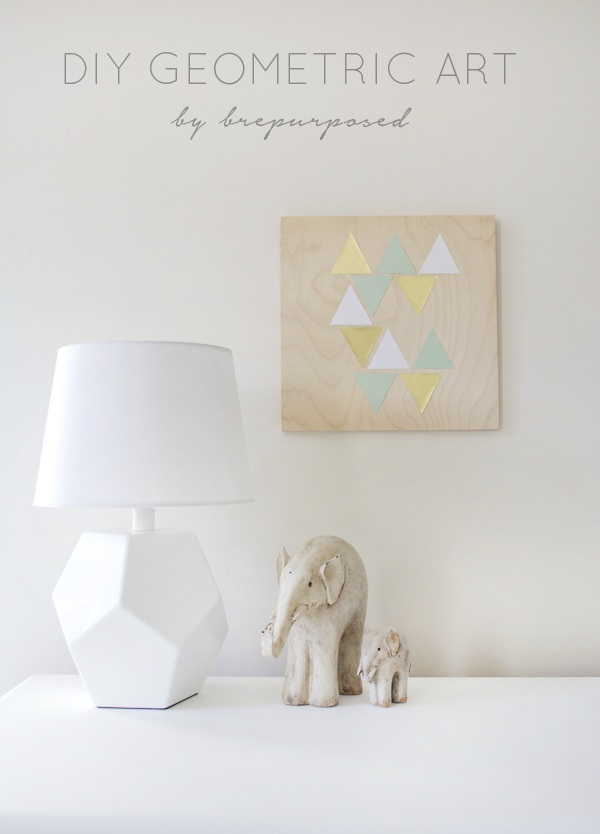 DIY Geometric Artwork Honest to Nod