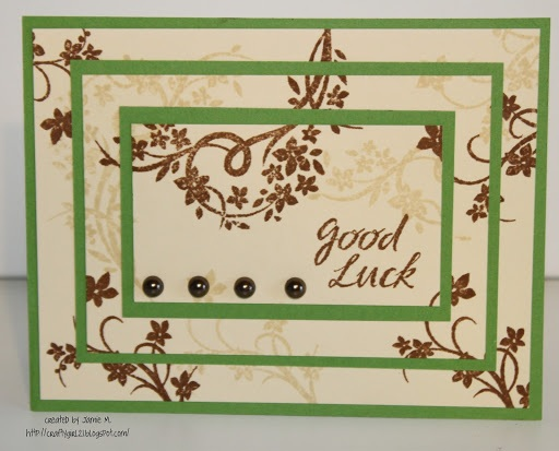 Crafty Girl 21! Good Luck Triple Time Stamping