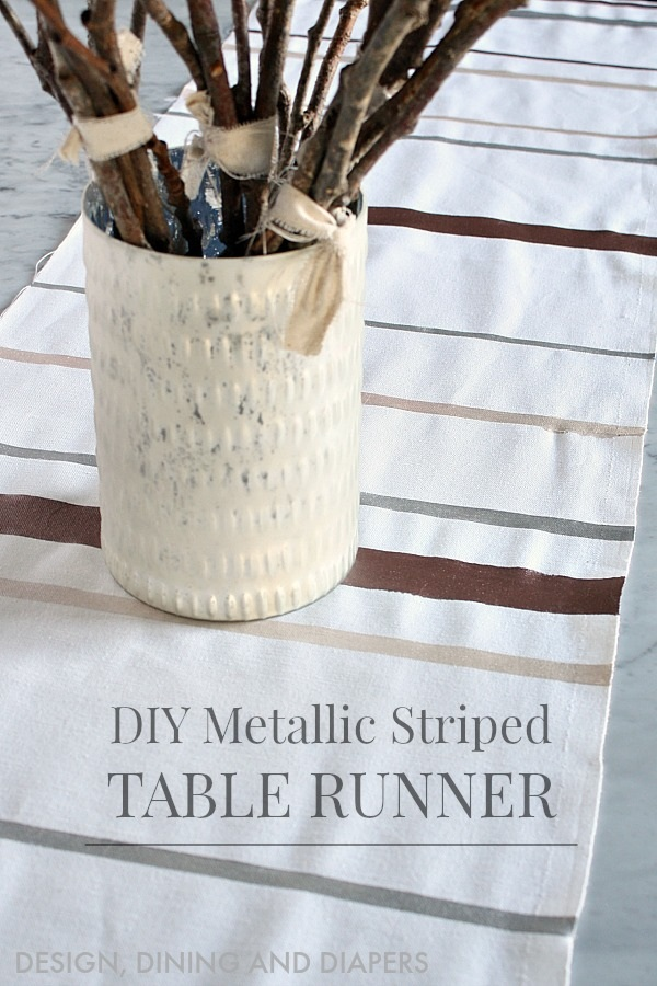 DIY Holiday Table Runner Design, Dining + Diapers