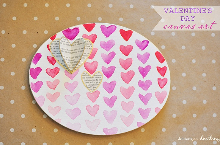 Valentine's Day canvas art