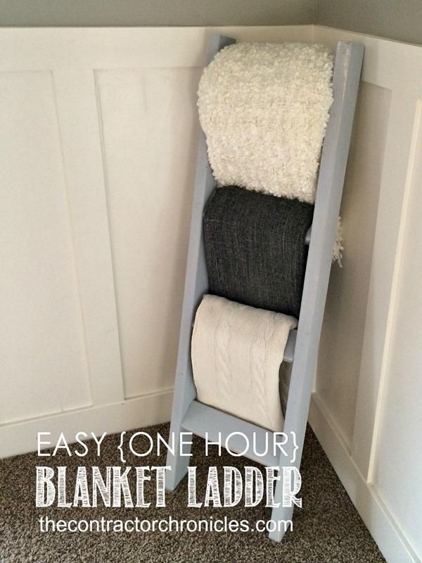 Easy One Hour Blanket Ladder
