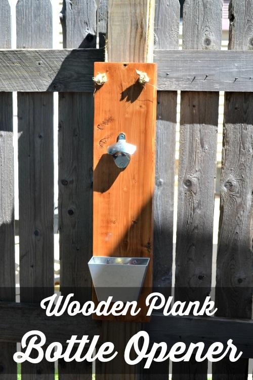 Wooden Plank Bottle Opener