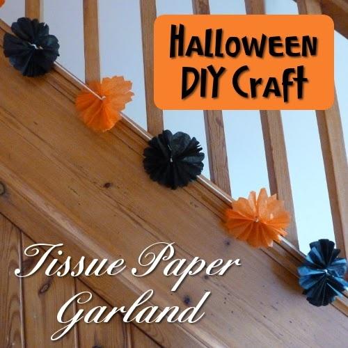 Easy Halloween Tissue Paper Garland Tutorial