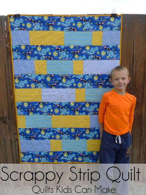 Scrappy Strip Quilt Quilts Kids Can Make