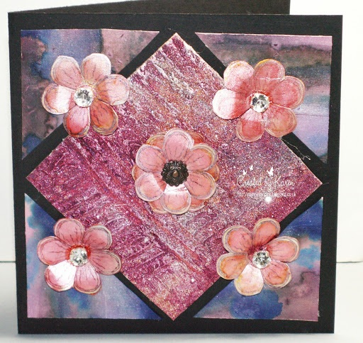 Karen's Crafting Obsessions More Spectrum Noir AquaTints and Sheena's flower stamp set ...