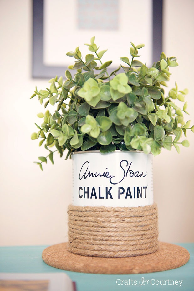 Paint Can Craft Upcycle Paint Can into a Decorative Vase
