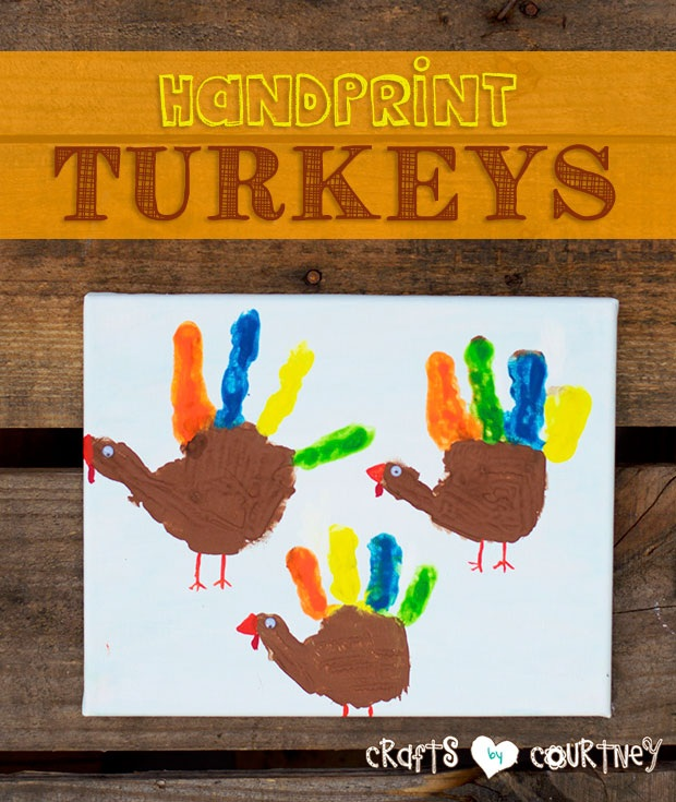 How to Paint Colorful Handprint Turkeys for Thanksgiving