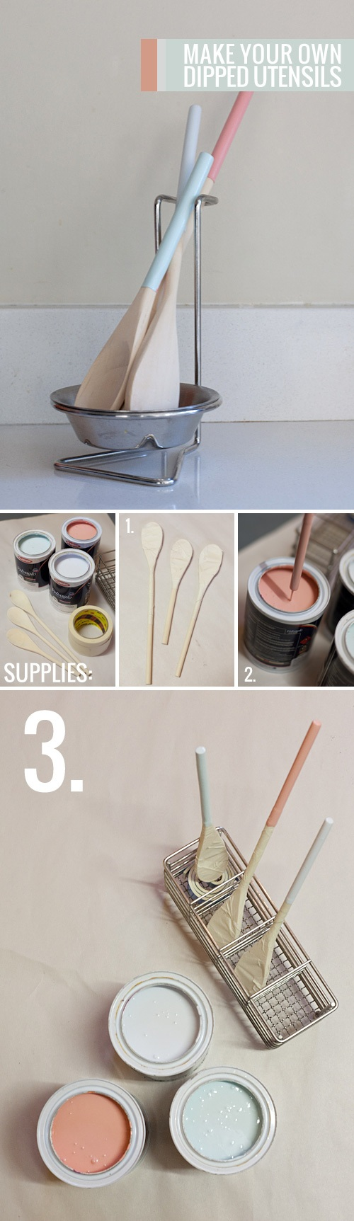 Make your own dipped utensils