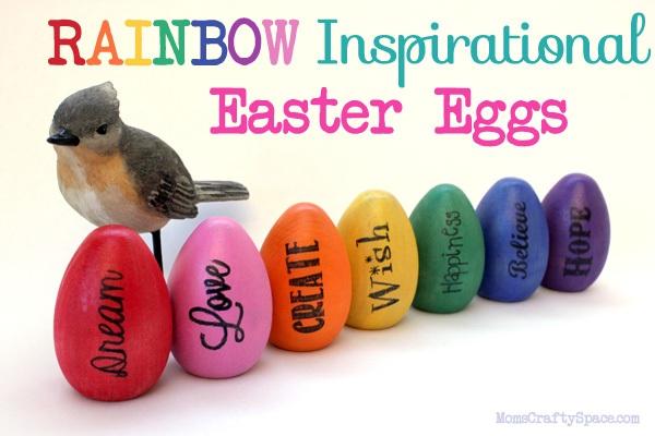 Inspirational Rainbow Easter Eggs