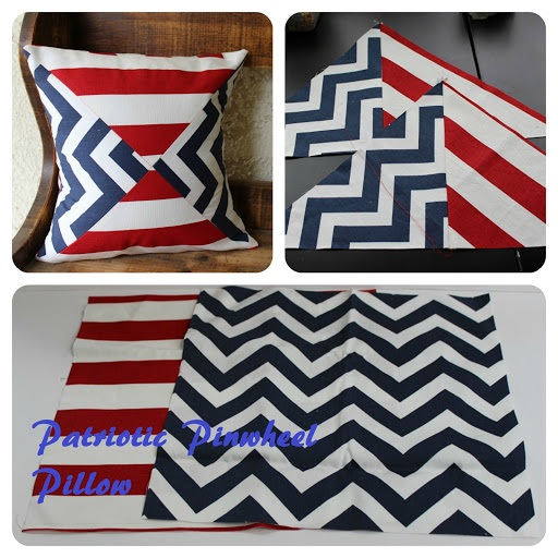 Kutz, Paper, Scissors Patriotic Pinwheel Pillow Tutorial