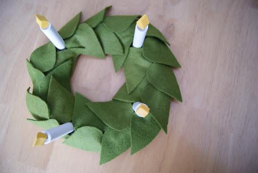 St Lucia crown wreath centerpiece