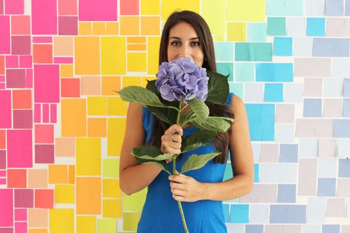 DIY Post-it® Note Photobooth Backdrop