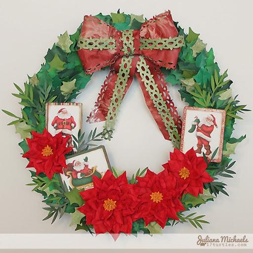 Santa Christmas Wreath