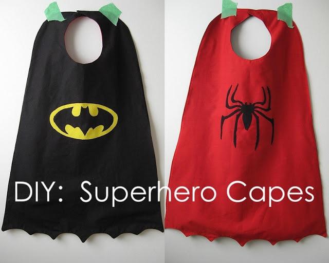 Tutorial:  DIY Superhero Capes