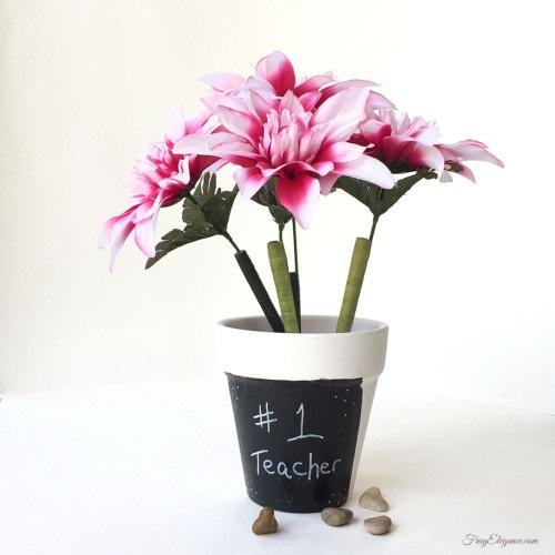 Teacher Appreciation Gift - Flower Pot Pen Holder