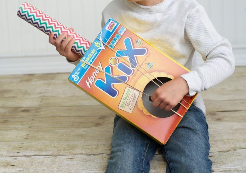 Cereal Box Guitar Craft