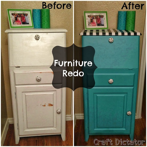 Teal Furniture Makeover {Guest Post from Craft Dictator}