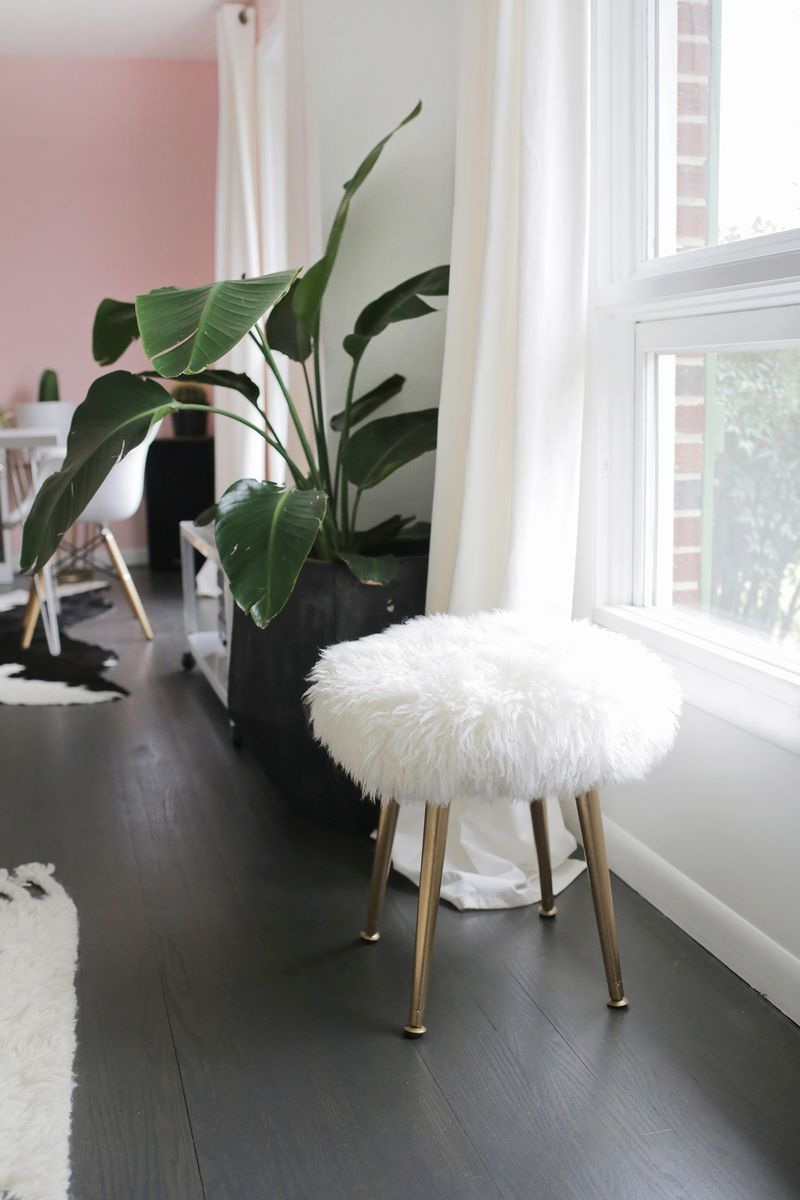 Make a Furry Stool (With Gold Legs) in Minutes!