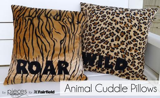 DIY Animal Cuddle Pillows