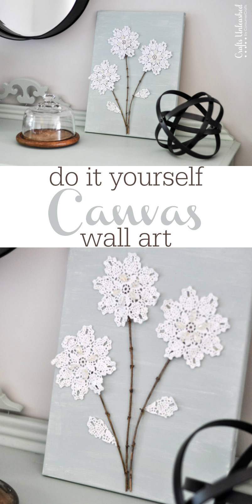 Wall Art Canvas Shabby Chic : Shabby chic diy canvas wall art craftsmile
