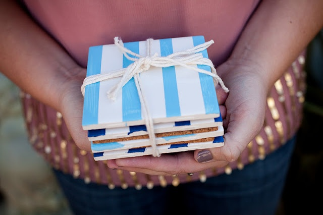 Make It: Striped Ceramic Coasters | Valley & Co. Lifestyle