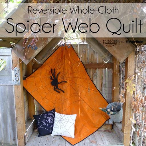 Reversible Spider Web Quilt Halloween Quilt