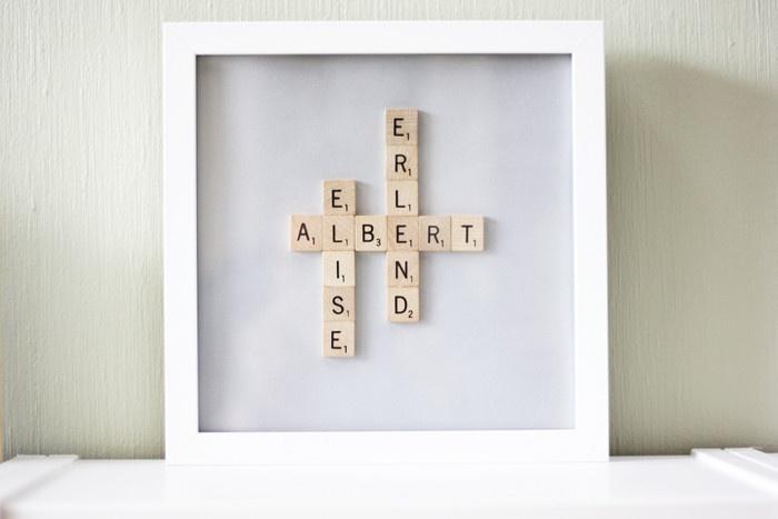 DIY Scrabble Name Frame - MORNING CREATIVITY