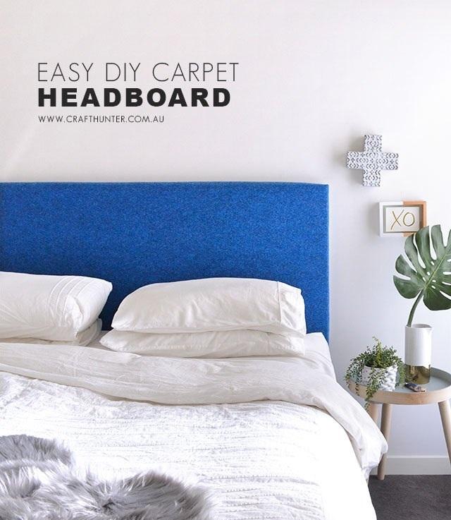 EASY DIY CARPET HEADBOARD