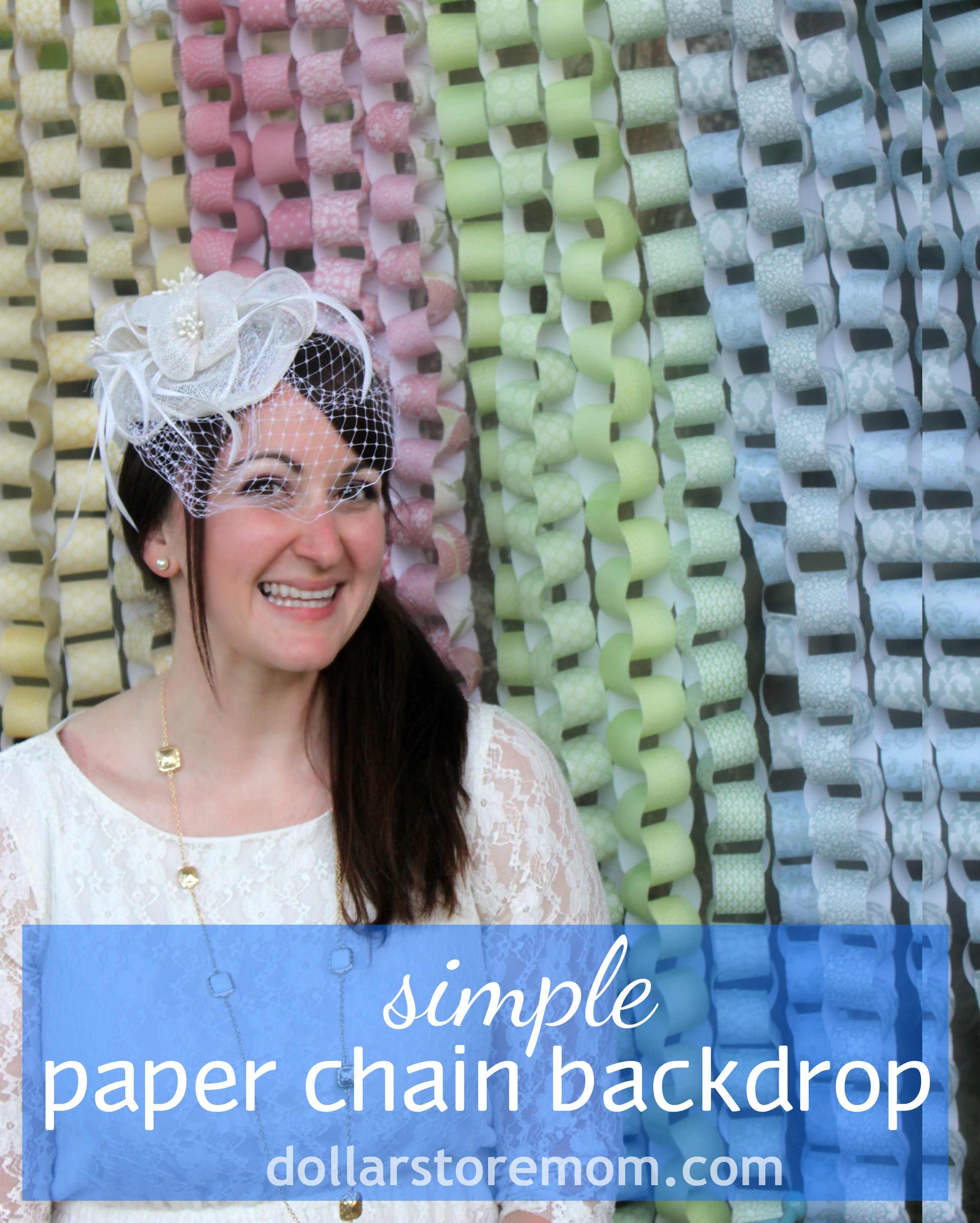 Make a Paper Chain Photo Backdrop