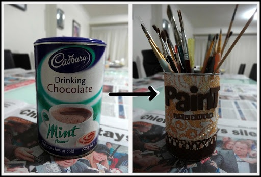 Let's Get Messy! Paintbrush Holder