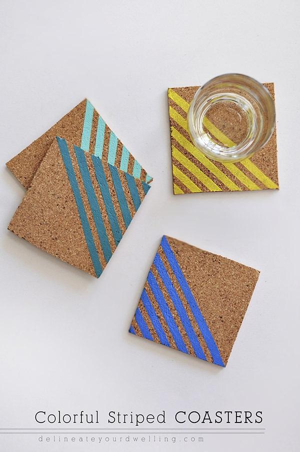 Colorful Striped Coasters