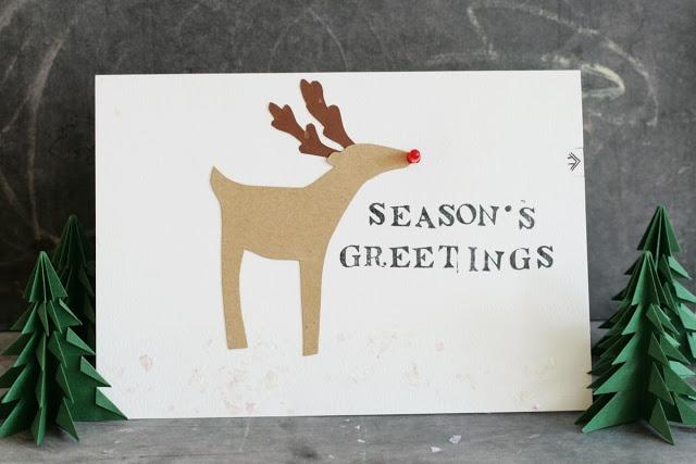 L.E.D Reindeer Greeting Card