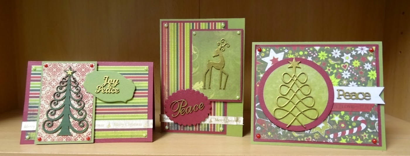 Let's Get Messy! Peace Themed Christmas Cards Scrapmatts DT