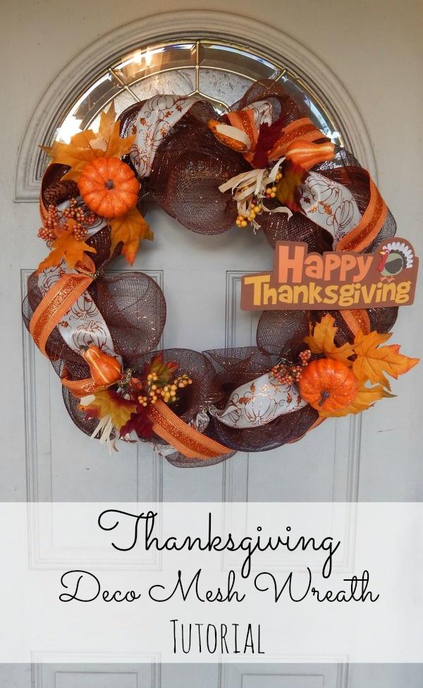Thanksgiving Wreath Tutorial Using Deco Mesh