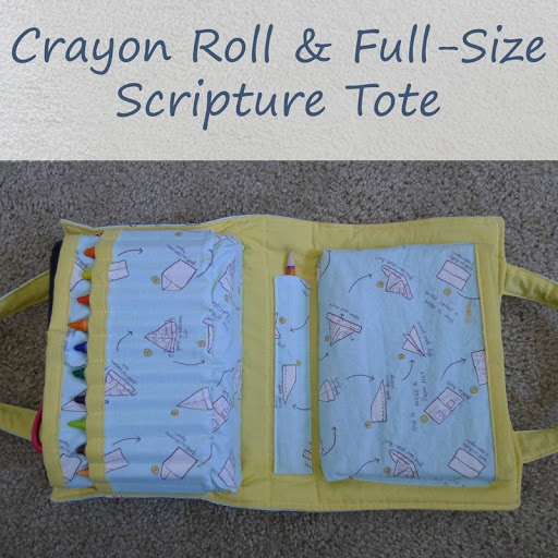Big Boy Crayon Roll & Full Size Scripture Tote