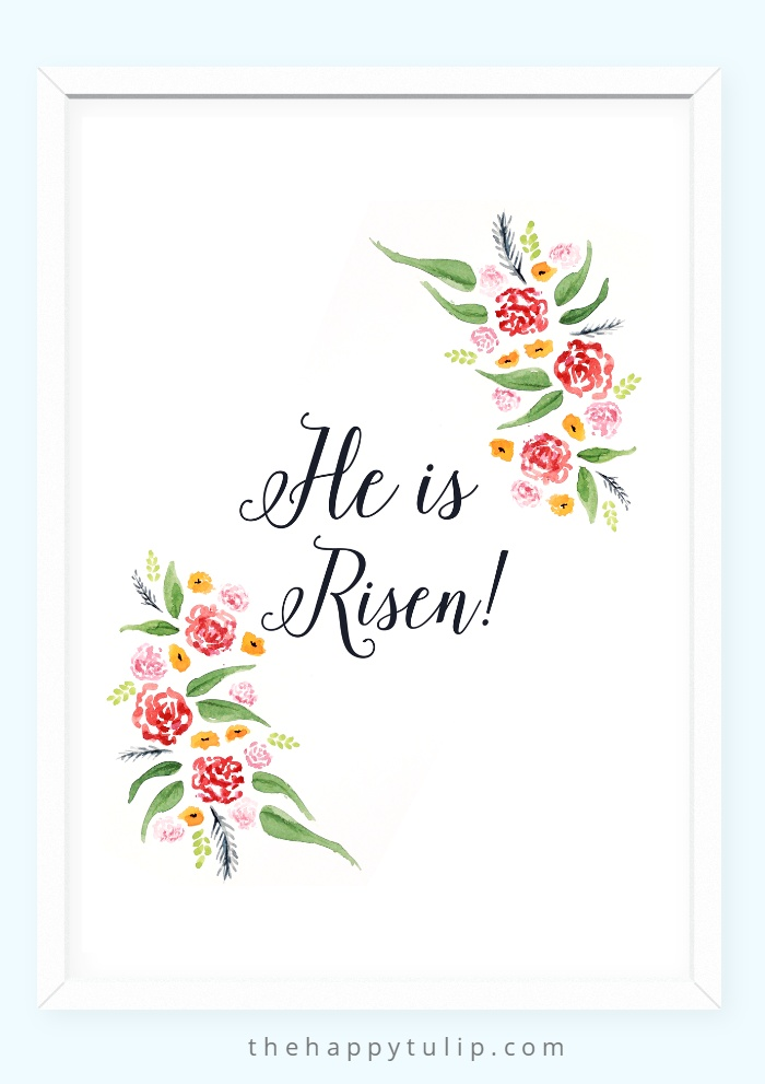 Watercolor Easter Printables